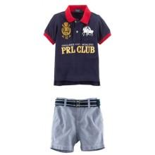 Baju Anak Polo PRL Club black Harga Rp 156.000